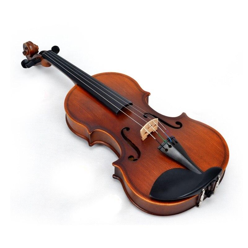 Violon rouge mat d'entrée de gamme pour écolier professionnel 4/4 3/4 1/2 1/4 1/8 taille en bois laminé mat panneau érable violon