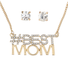 2016 Fashion Necklace Mothers Day Gift Silver Neck Choker Chunky Chain Pendants Gold Cystal High quality necklace for woman