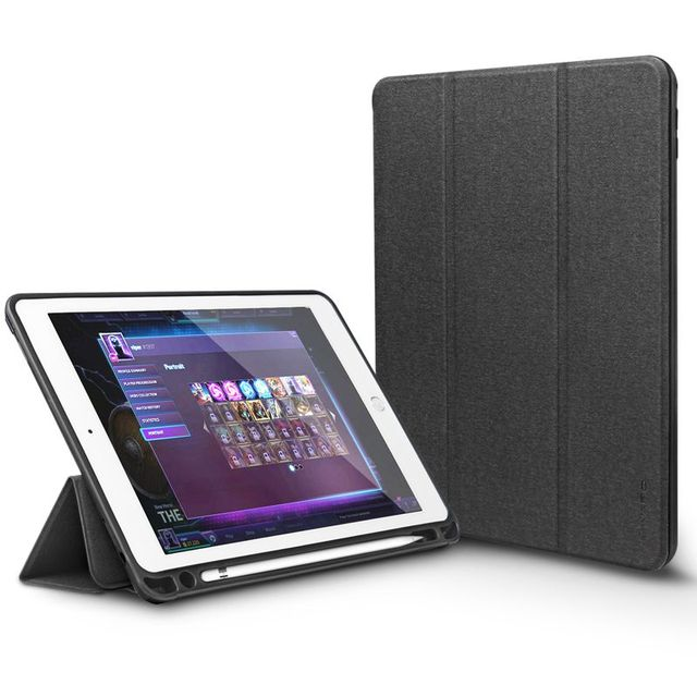 Para ipad pro 9.7 case capa de couro pu ultra slim fit virar capa folio com lápis titular para ipad pro 12.9 case wake auto sono