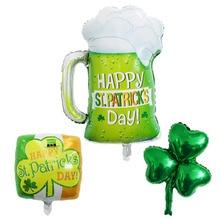 Clover Cup Balloons Saint Patrick's Day Foil Balloons Green Clover Globos St Patrick's Day Party Decorations Birthday Decoration стоимость