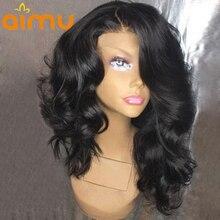 250 Плотность 13X6 Синтетические волосы на кружеве парики для волос с волосами младенца свободная волна бразильский Реми Короткие парики из натуральных волос парики для черный Для женщин