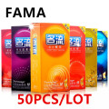 50pcs/lot hot sale quality products personage 5 kinds of latex condoms for men adult sex products