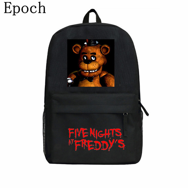 Epoch 2016 New Game Five Nights At Freddy's Backpacks For Children Freddy Chica Foxy FNAF Cartoon School Backpack Favourite Bags