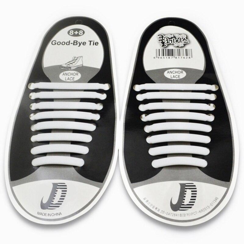 16 шт./компл. обувь аксессуары эластичные силиконовые шнурки эластичные шнурки без галстука шнурке Открытый аксессуары для кроссовок