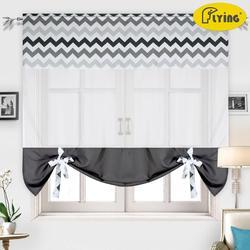 Latające zasłona tiulowa z nadrukiem fale kolory wzory ciężkie tkaniny okna zasłonki kuchenne okno i małe okno