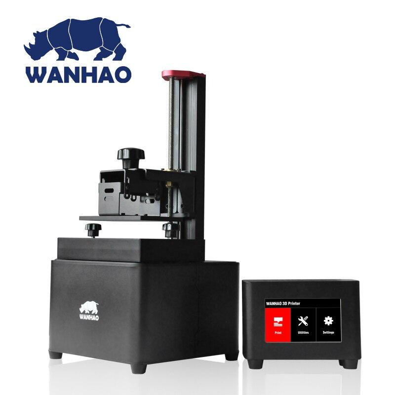 2019 wanhao D7 UV photoploymer résine 3d imprimante couleur SLA/DLP 3D imprimante machine avec boîte de contrôle écran tactile LCD photopolymérisable