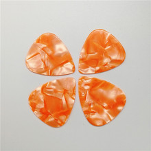 Cheapest Price Pearl Yellow Celluloid Guitar Picks No Printing 0.46mm-1.5mm Thickness 100PCS
