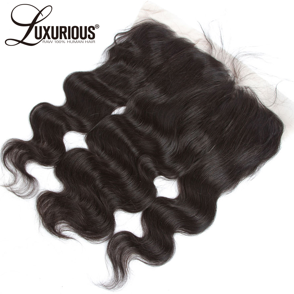 Body Wave 13x4 Ear To Ear Full Silk Base Lace Frontal Closure Peruvian Remy Hair Pre