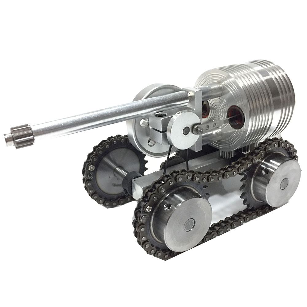 Can start metal tank model external combustion engine micro generator car steam engine model engine mini