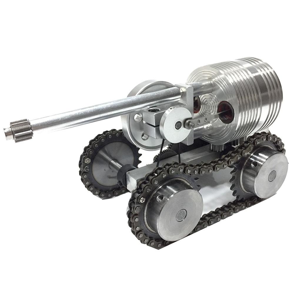 Can start metal tank model external combustion engine micro generator car steam engine model engine mini