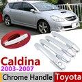 Хромированная крышка ручки внешней двери для Toyota Caldina T240 2003 ~ 2007  автомобильные аксессуары  Набор наклеек для отделки 4 дверей 2004 2005 2006