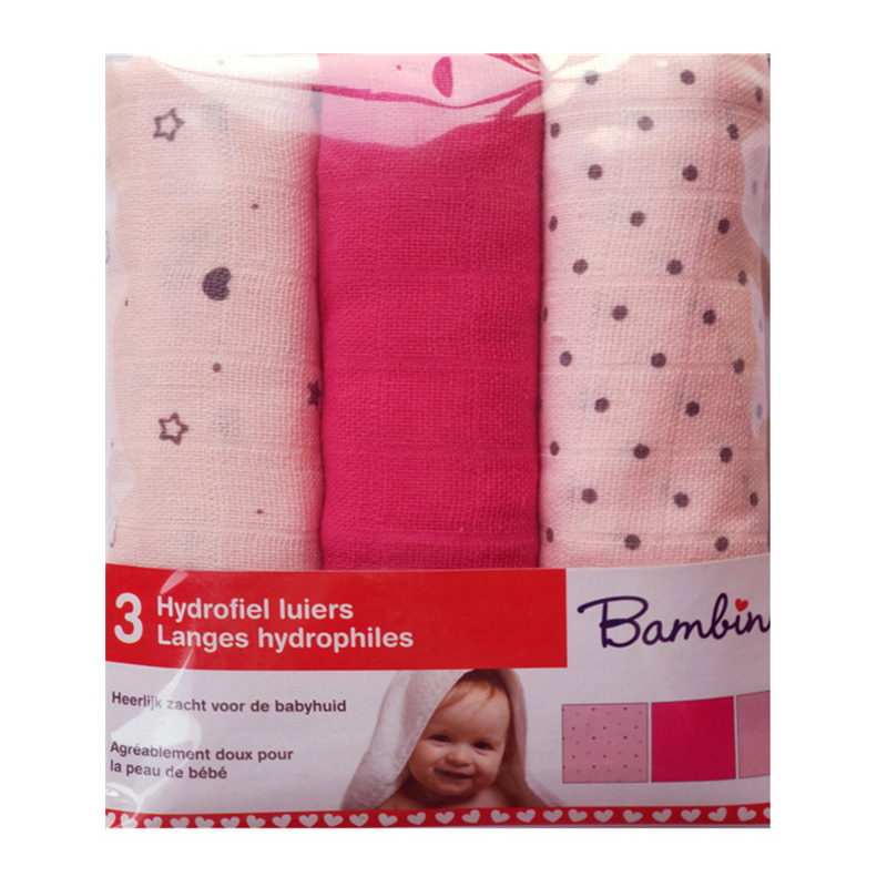Reusable Diapers For Newborn Muslin Cotton Nappy Baby  Diapers Repeated Use Gauze Blanket Cloth Nappies 60*60 Cm 3 Pieces