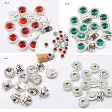 50pcs 3D Round Nail Crystal Spinning Rotate 8 Design Spin Rhinestone Glitter Charm DIY Deco/Spinning Rotating Jewelry ME1-8