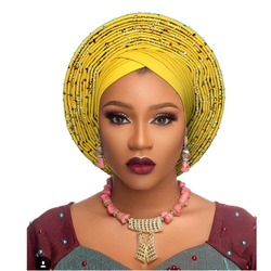 Professional Design Women Headwear Fashion Headwrap African Head wrap Banadana Headscarf