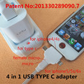 4 in 1 USB TYPE-C adapter Charging & data sync Applicable to riphone cable lightninge otg cable micro usb adapter fone de ouvido