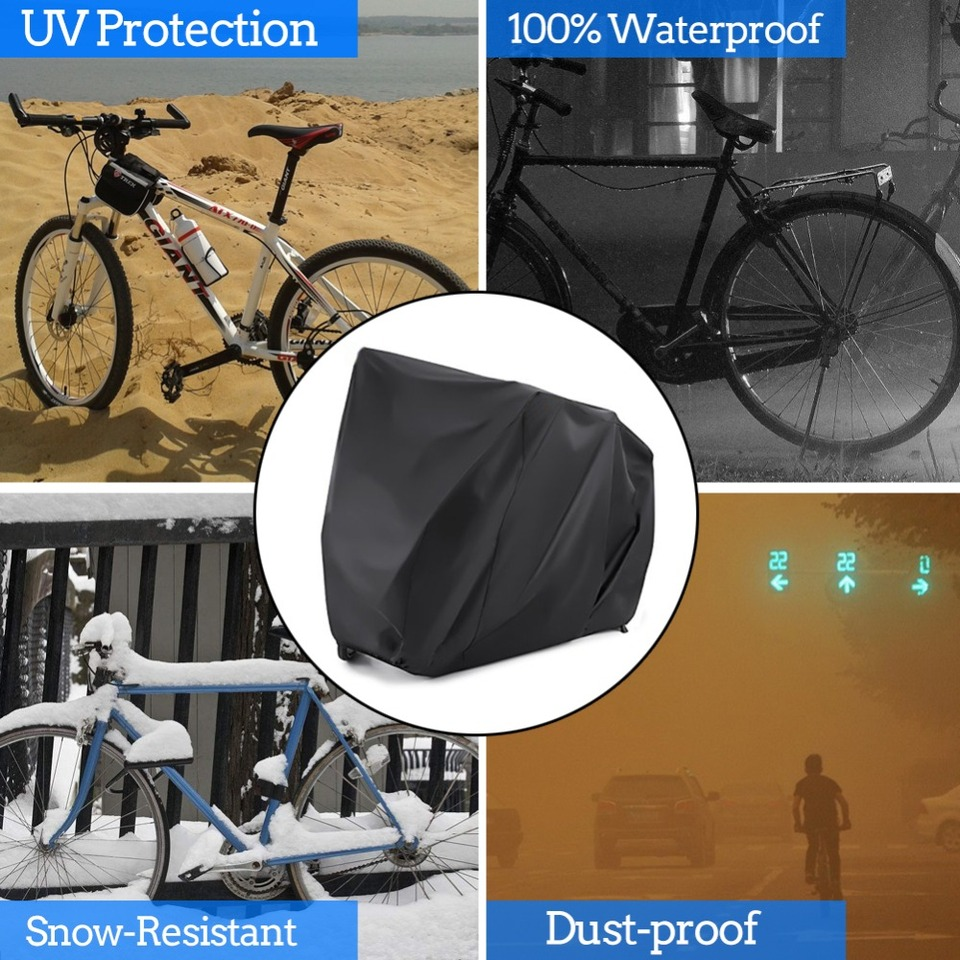 XL Universal Bicycle Motorcycle Mountain Road Bike Rain Cover Outdoor Waterproof