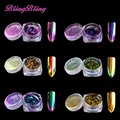 6 Color New Chameleon Flakes Nail Glitter Powder Dust Bling Shinny Squins Nail Art Tips Decorations Manicure Beauty Tools