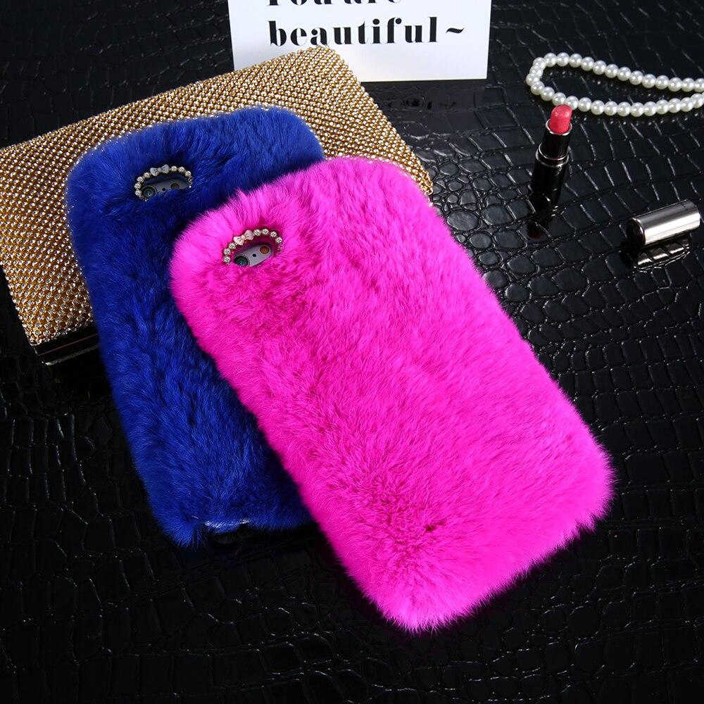 Kisscase kelinci berbulu case untuk iphone 5 s 5 se coque mewah - Aksesori dan suku cadang ponsel - Foto 6