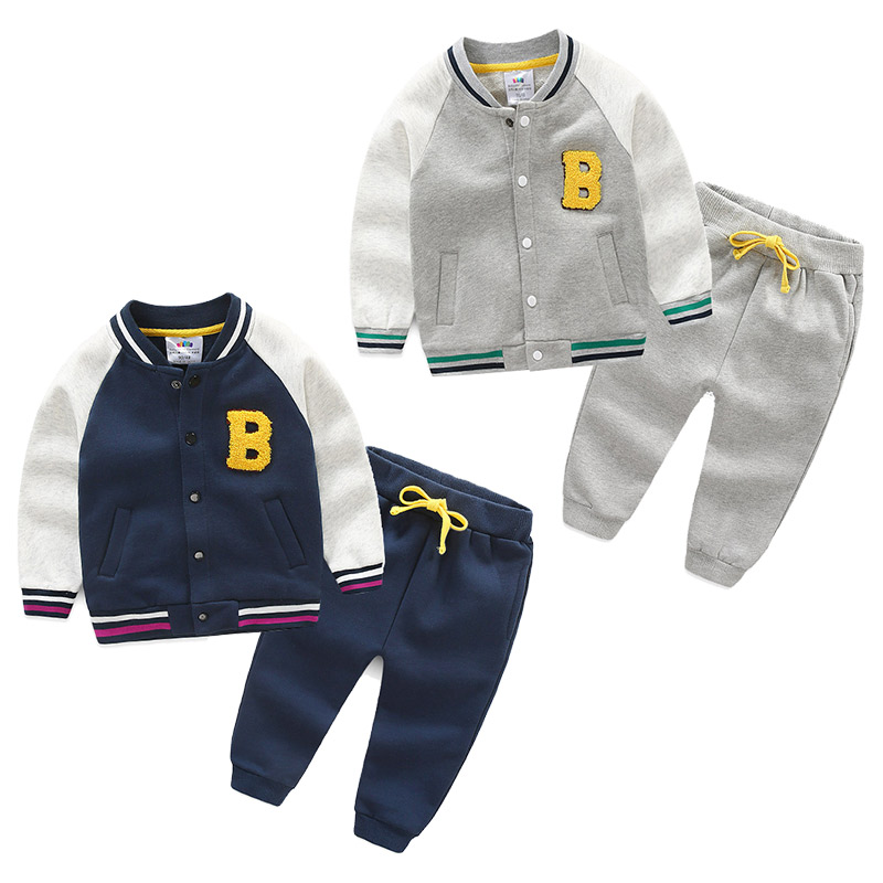 2017 new autumn winter sports suit baby boy girls Clothes Long Sleeve baseball+Pants 2Pcs Suits children Clothing Outfit 2017 new boys clothing set camouflage 3 9t boy sports suits kids clothes suit cotton boys tracksuit teenage costume long sleeve