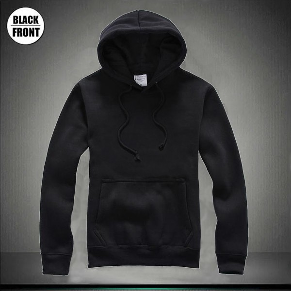 Hoodies Template Black Front