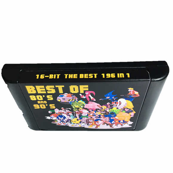 New Arrival 196 in 1 Hot Game Collection For SEGA GENESIS MegaDrive 16 bit Game Cartridge For PAL and NTSC Drop shipping
