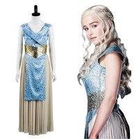 GOT Game Of Thrones Daenerys Targaryen Dany Dress Cosplay Costume Halloween Carnival Costumes Fancy Dresses For