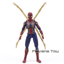 SHF S. H. Figuarts Infinito Guerra Marvel Avengers Spiderman Aranha De Ferro PVC Action Figure Collectible Modelo Toy(China)