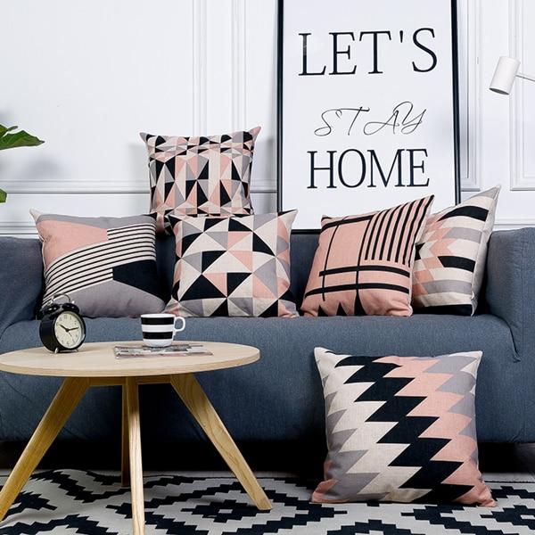 modern grey sofa with chaise www made com bed américain gris noir quartz rose housse de coussin en lin ...