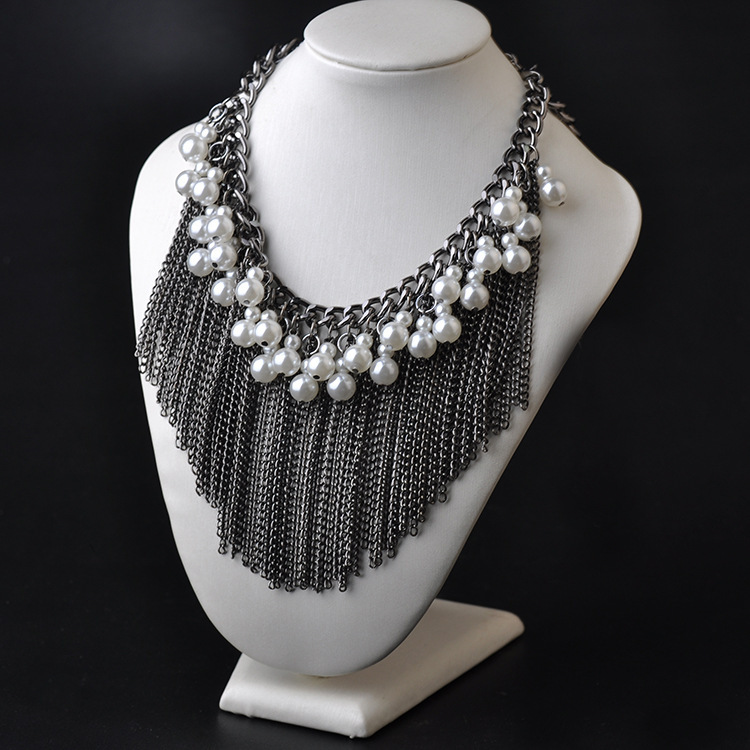 06a50146f Brazil Fine Jewelry Newest Design Alloy Chain Pearl Long Tassel Pendant  Necklace Multi Layer Big Chunky Necklace SF064 Wholesale-in Chain Necklaces  from ...