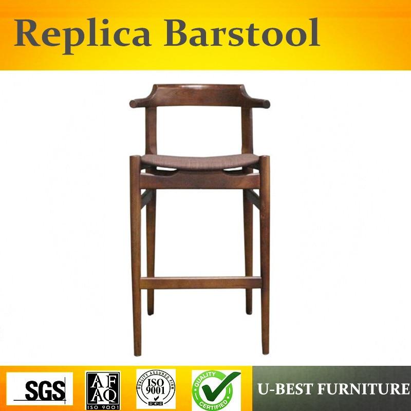 U-BEST European Style Solid Wood Bar Chair Stool Chair, Modern Minimalist Bar Chairs Tablet Chair