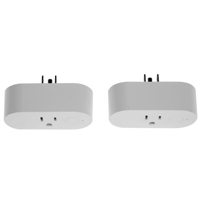 2pcs Smart Wi-Fi Mini Outlet Plug Switches for Echo Alexa Remote Control high quality аксессуар gopro wi fi smart remote armte 002
