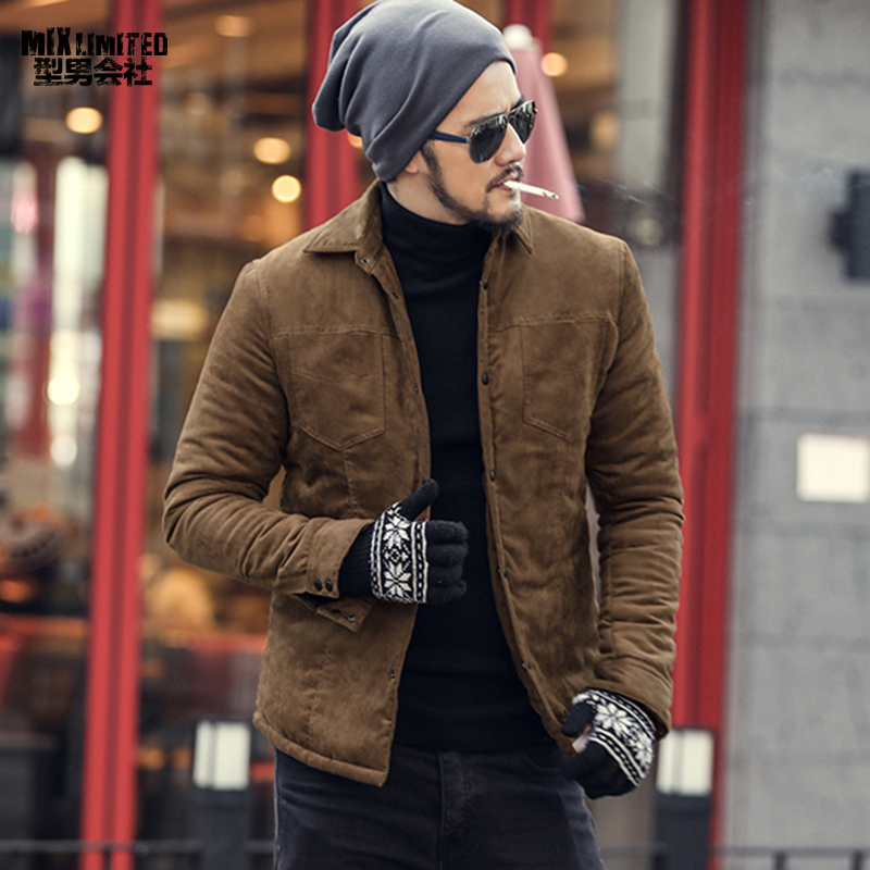 Men Autumn Fashion Brand Slim Fit Long Sleeve Coat Men Plaid Cotton Casual Outwear Warm European Style Top Quality Coat F2132