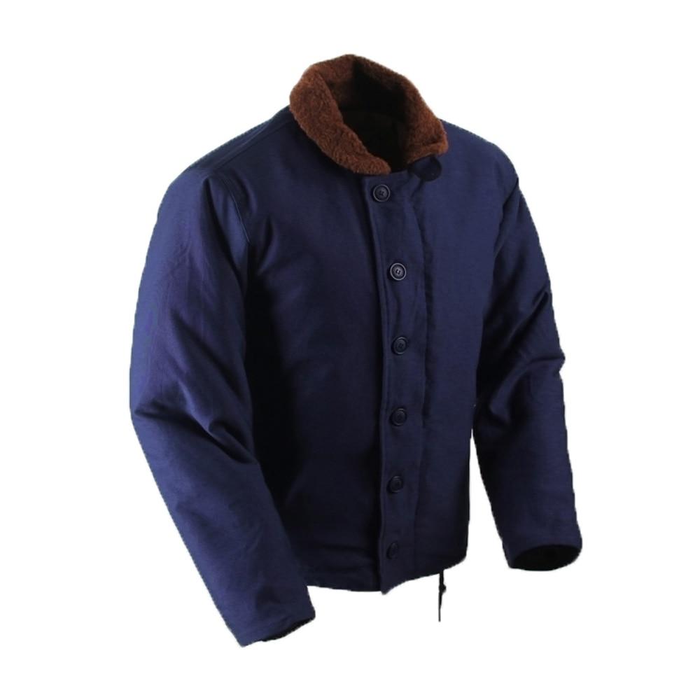 USN Navy Vest Retro Military Me/'s Vest Winter Lamb Velvet Outdoor Waistcoat Tops