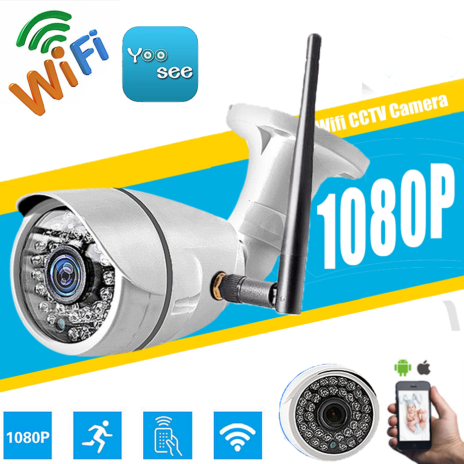 HD 1080P 960P 720P Wireless 2.0MP IP Camera P2P RTSP Motion Detected Waterproof WiFi Camera Bullet with 32G SD Card Yoosee app gadinan hd 1080p 960p 720p wireless ip camera p2p rtsp motion detected waterproof wifi camera bullet with 64g sd card slot icsee