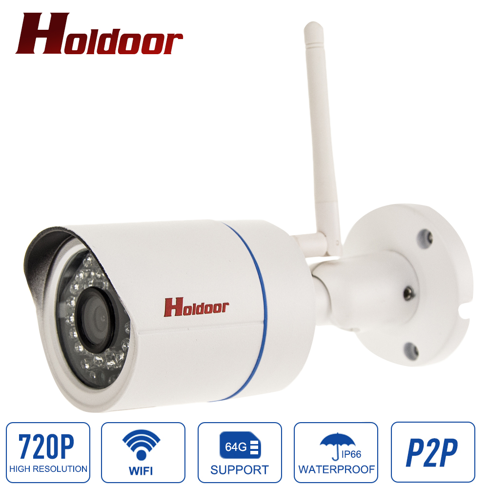 Outdoor Waterproof 1.0mp HD Bullet IP Camera Wifi 720P Wireless mini Onvif P2P IR Night Vision Security CCTV Cam With card slot waterproof ip65 ir cut night vision mini hd 720p ip camera wireless wifi bullet onvif p2p home security camara with card slot