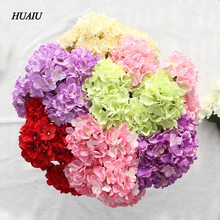 5 Heads/ Bouquet Artificial Hydrangea Flowers Silk Flower Heads Fake Leaf flowers for home party wedding decoration