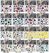 SHNAPIGN 420 pçs/lote robô Dinossauro Temporária Body Arts, Flash Do Tatuagem Adesivos 17*10cm, Crianças Brinquedo Ama Tatoo À Prova D Água