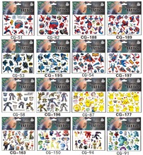 Shnapign 420 Stks/partij Dinosaurus Robot Tijdelijke Body Arts, Flash Tattoo Stickers 17*10 Cm, waterdichte Kinderen Houdt Speelgoed Tatoo