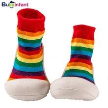 Baby Boy Girl Socks Anti-slip Rainbow Toddlers First Walker Brand