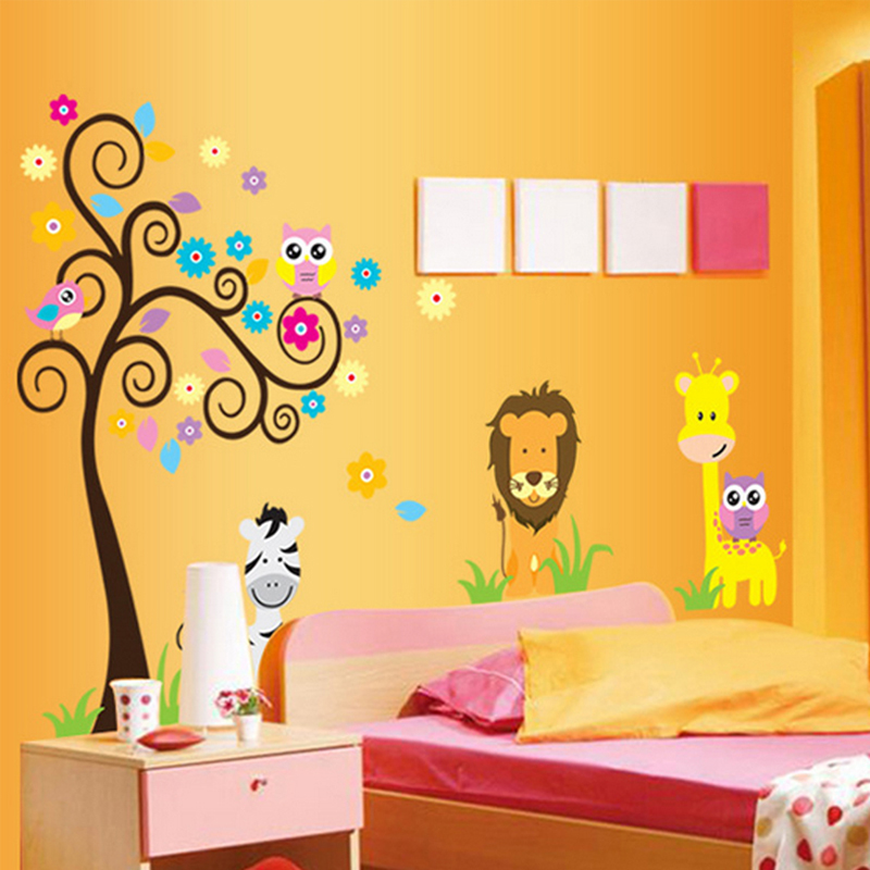 Baby Room Decal Sunshine Flowers Removable Wall Sticker Wallpaper Decor SD