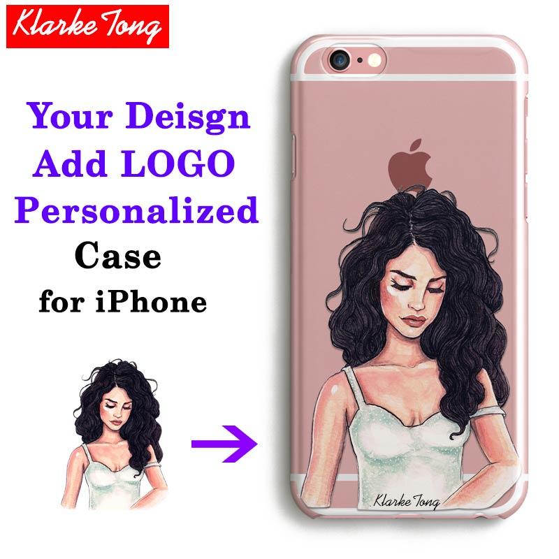 Custom Design DIY Transparente Tampa Da Caixa Do Silicone Para o iphone 6 6 s 5 5S SE 7 6 plus 8 X Personalizado Impressão de Telefone Celular caso