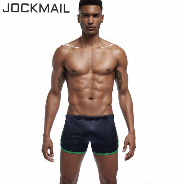 JOCKMAIL Sexy Trunks Fashion Men Sleep Bottoms Classic Solid Mesh Fast Dry Retailer Men short Men Comfortable Soft Men Homewear