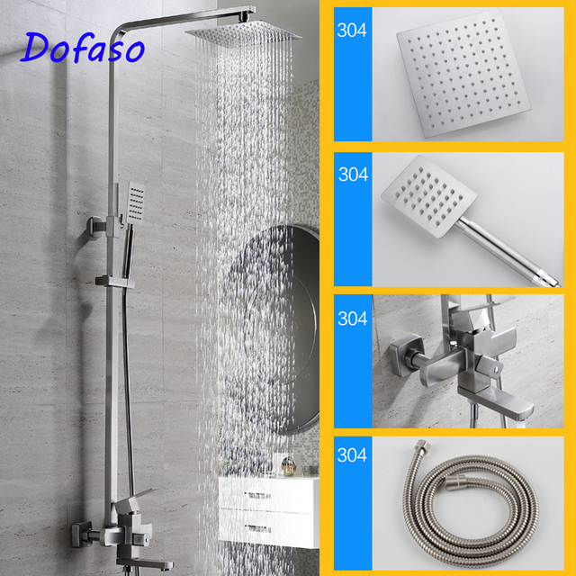 Dofaso stainless steel shower faucet quality brushed 304 stainless ...