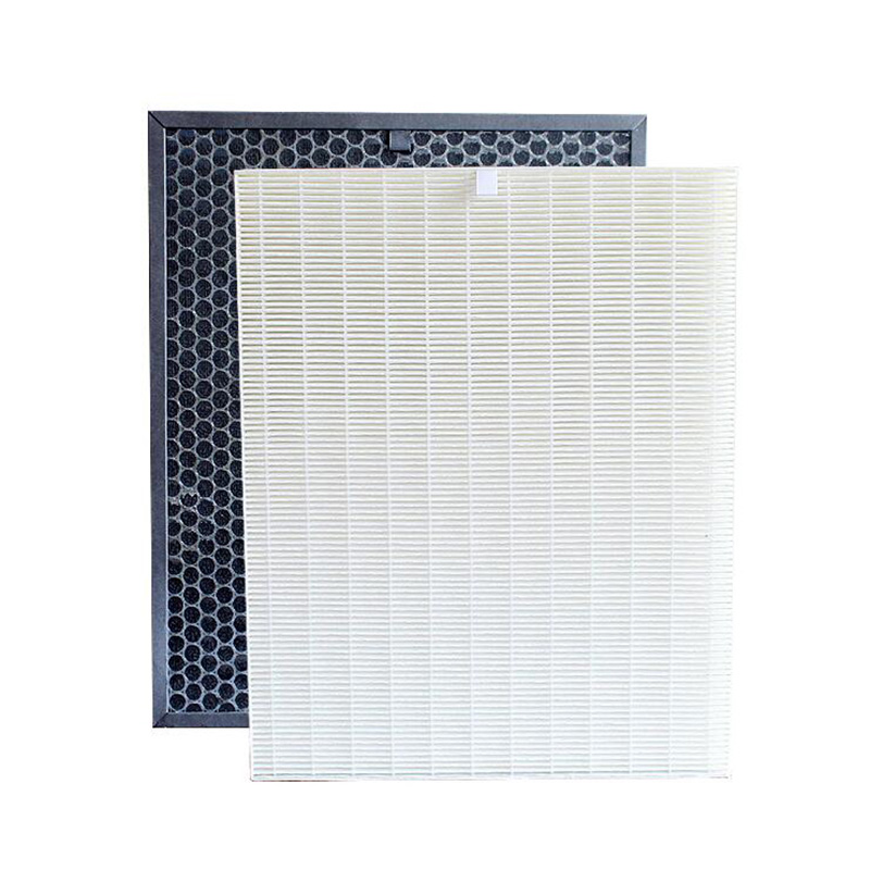 FU-888SV HEPA and Actived Carbon Filter For Sharp FU-P60S FU-888SV FU-4031NAS FU-P40S Air Purifier Parts 39*31*3.5cm+39*31*1cm