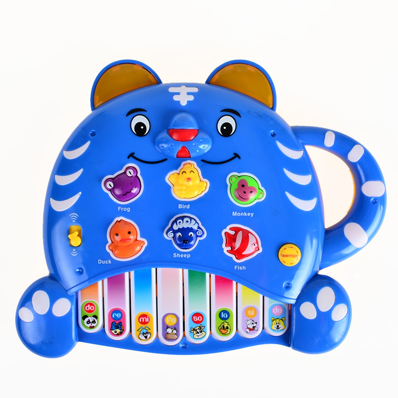BOHS Tiger Piano Keyboard 0-3 years old Music Animal Sound , English Version, Learning Machine Children Educational Toys