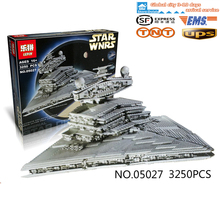 New LEPIN 05027  3250Pcs Star Wars Emperor fighters starship Model Building Kit Blocks Bricks Toy Compatible  Legeod 10030