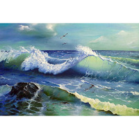 5d Diy Diamond Embroidery Landscape Painting Rhinestones Handmade Crafts Cross Stitch Kits Home Decor P90