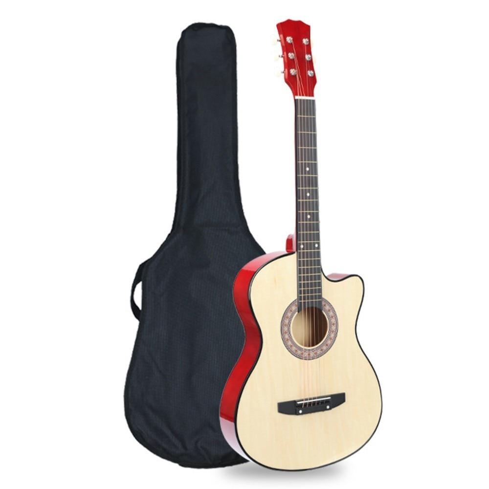 38 Inch Guitar beginner student girl type temperament lady adult boy folk guitar self-study beginner WJ-JX6 30 34 36 inch novice guitar beginner folk guitar six chord little guitar