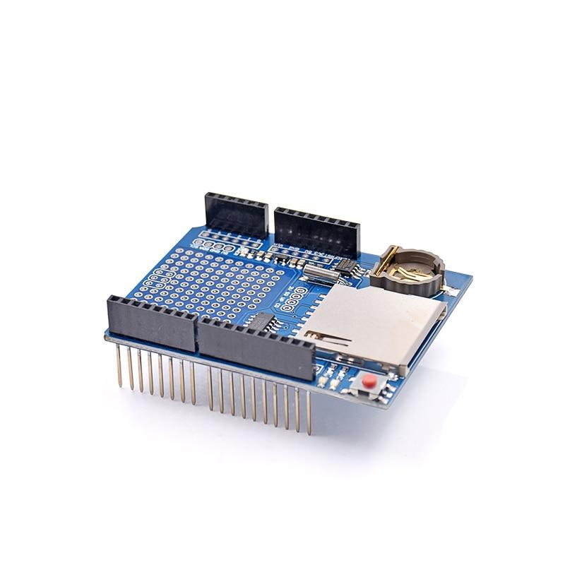 5pcs/lot New Logging Recorder Data Logger Module Shield V1.0 For Arduino UNO SD Card Hot