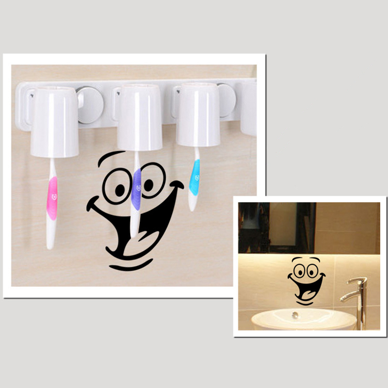 Big Smile Furniture Decoration Wall Decal Fridge Sticker Bathroom Home DIY